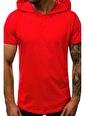 Madmext  Yırtık Detaylı  Kapşonlu Tişört 3069 Kırmızı